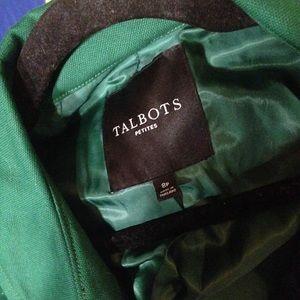 Talbots Jackets & Coats - Talbots Kelly Green Long Coat Size 8P